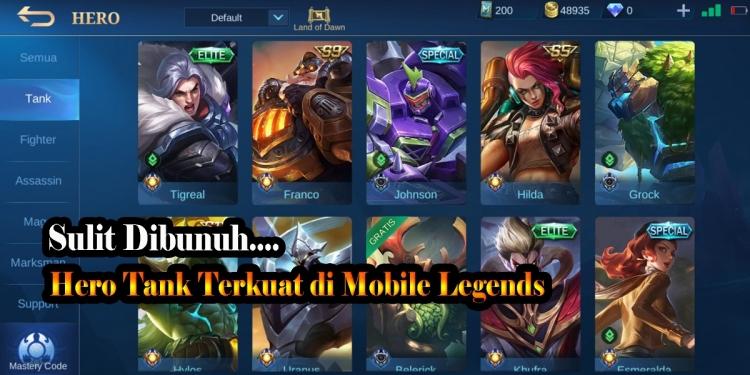 Hero Tank di Mobile Legends