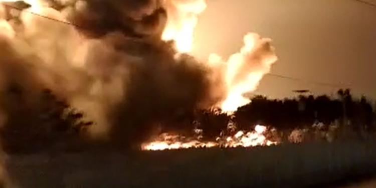 Kebakaran landa Kilang Minyak RU VI Balongan Indramayu. (ist)