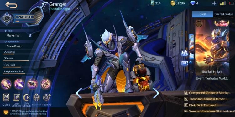 Hero Granger di Mobile Legends